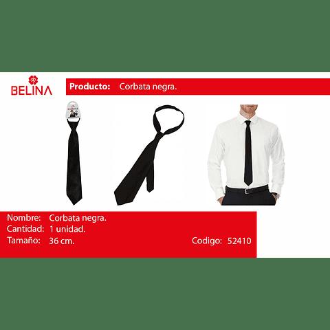 Corbata de saten negro