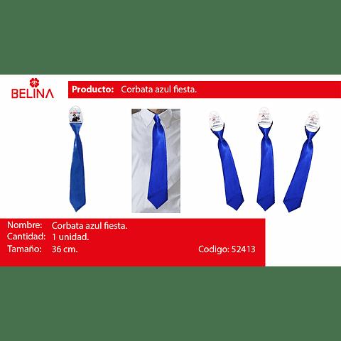 Corbata de saten azul