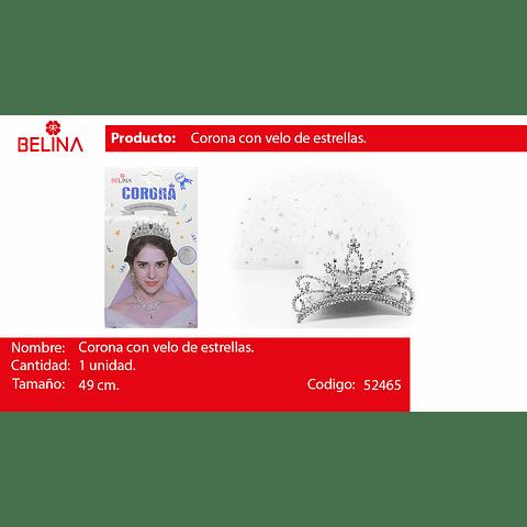 Velo de novia con corona