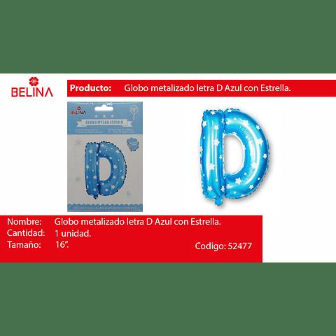 Globo Letra D Azul 16 Pulgadas