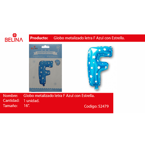 Letra azul 16f