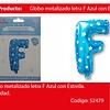 Globo letra F azul 16 pulgadas