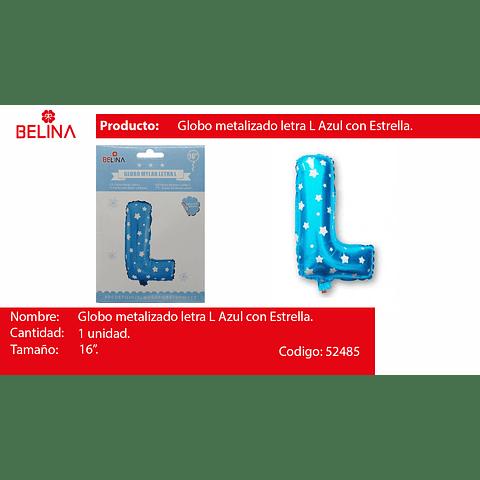 Globo Letra L Azul 16 Pulgadas