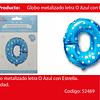 Globo Letra O Azul 16 Pulgadas
