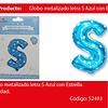 Globo letra S azul 16 pulgadas