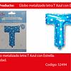 Globo Letra T Azul 16 Pulgadas