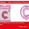 Globo Letra C Rosa 16 Pulgadas