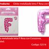 Globo Letra F Rosa 16 Pulgadas