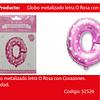 Globo Letra O Rosa 16 Pulgadas