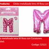 Globo Letra M Rosa 16 Pulgadas