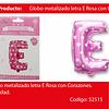 Globo letra E rosa 16 pulgadas