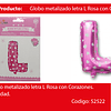 Globo Letra L Rosa 16 Pulgadas