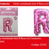 Globo Letra R Rosa 16 Pulgadas