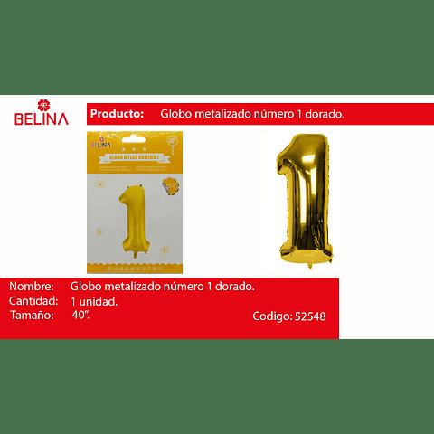 Globo Número 1 Oro 40 Pulgadas