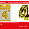 Globo número 4 oro 40 pulgadas