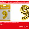Globo Número 9 Oro 40 Pulgadas