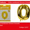 Globo número 0 oro 40 pulgadas