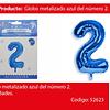Globo Número 2 Azul 40 Pulgadas