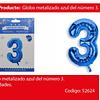 Globo Número 3 Azul 40 Pulgadas