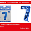 Globo Número 7 Azul 40 Pulgadas