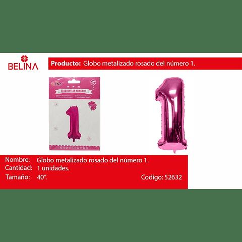Globo número 1 rosa 40 pulgadas