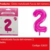 Globo Número 2 Rosa 40 Pulgadas