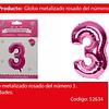 Globo Número 3 Rosa 40 Pulgadas
