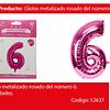 Globo Número 6 Rosa 40 Pulgadas