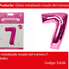 Globo Número 7 Rosa 40 Pulgadas