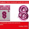 Globo Número 8 Rosa 40 Pulgadas