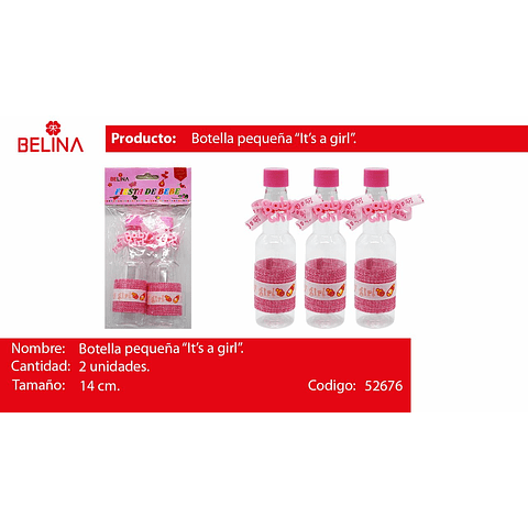 Botella de plastico girl
