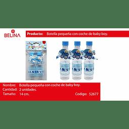 Botella de plastico baby shower azul