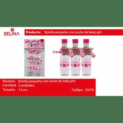 Botella de plastico baby shower rosa