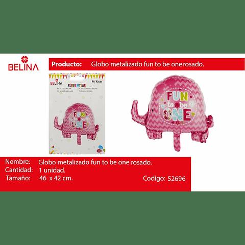 Globo elefante rosa 46x42cm
