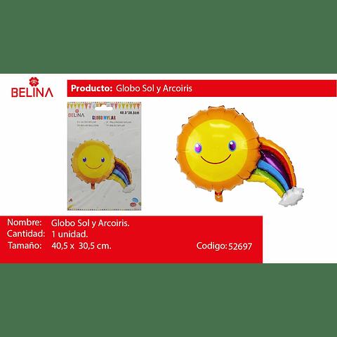 Globo metalico sol y arcoiris