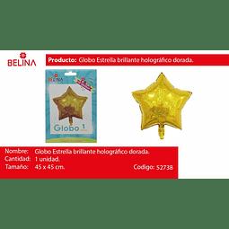 Globo estrella oro tornasol