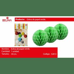 Esferas de papel verde 30cm