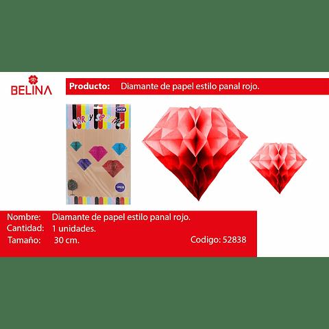 Diamante de papel multicolor 30cm