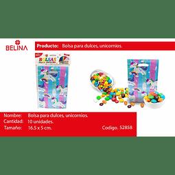Bolsa para dulces unicornio
