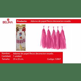 Guirnalda de flecos rosa