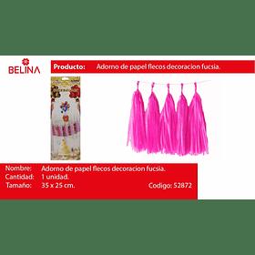 Guirnalda de flecos rosado