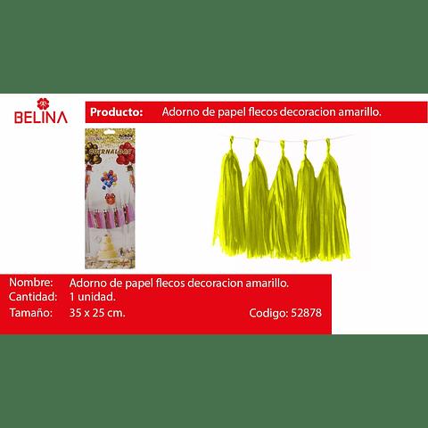 Guirnalda de flecos amarillo