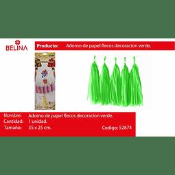 Guirnalda de flecos verde