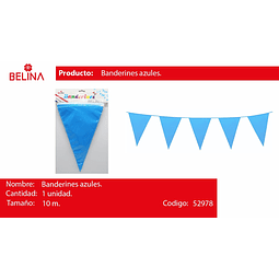 Banderines azul