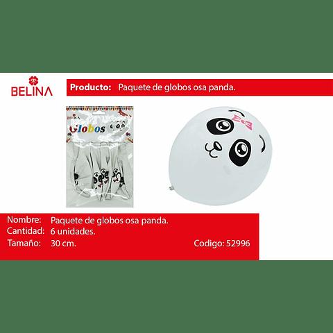 Globo latex panda niña