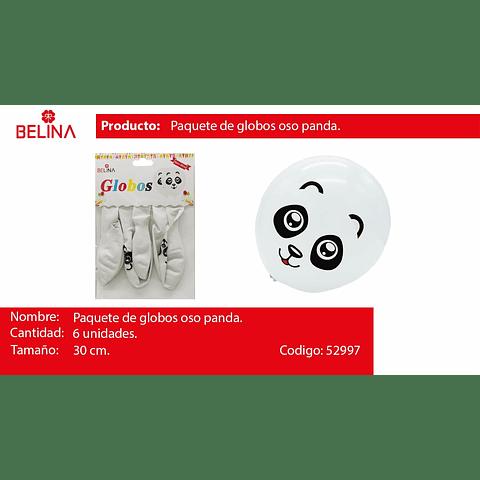 Globo latex panda niño