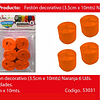 Feston grueso naranja 6pcs 3.5x10m