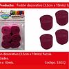 Feston Grueso Fucsia 6pcs 3.5x10m
