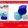 Feston Grueso Azul Con Blanco 6pcs