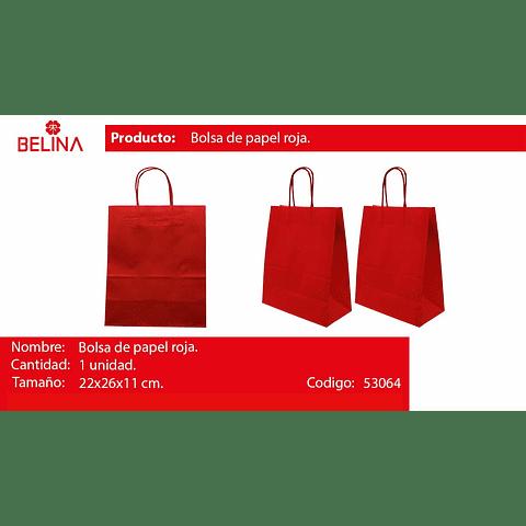 Bolsa de papel mediana roja